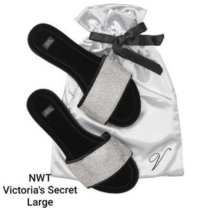 NWT Victoria's Secret Bling Slippers Large